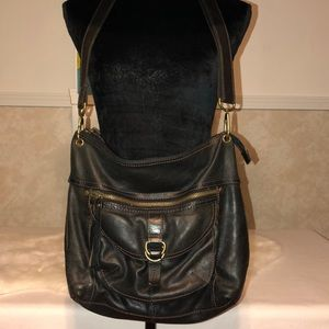 Vintage Fossil Leather crossbody bag